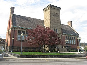 National Register of Historic Places listings in Jefferson County, Ohio - Image: Steubenville Carnegie library