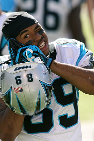 History of the Carolina Panthers - Steve Smith lead the NFL in catches, receiving yards, and touchdowns in 2005.