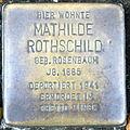 Stolperstein Delmenhorst - Mathilde Rothschild (1885).JPG