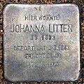 Stolperstein Dernburgstr 39 (Charl) Johanna Litten.jpg