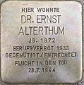 Stolperstein Karlsruhe Alterthum Dr Ernst.jpeg