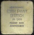 Stolpersteine Köln, Edith Fanny Deutsch (Roonstraße 52).jpg