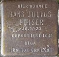 Stumbling block for Hans Julius Leiser (Im Dau 12)