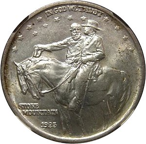 Stone Mountain Memorial half dollar - Image: Stone Mountain Memorial half dollar obverse