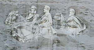 Jefferson Davis, Lee and Stonewall Jackson at Stone Mountain