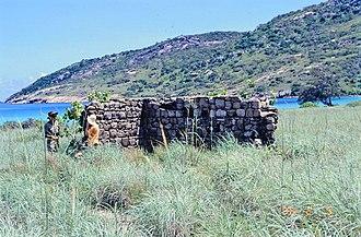 Mrs Watson's Cottage - Stone ruins, 1996
