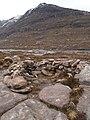 Stone windbreak above Loch Eadar dha Bheinne - geograph.org.uk - 752406.jpg