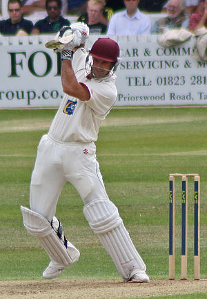 Indian cricket team in England in 2011 - Strauss batting for Somerset.