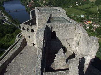 English: Strečno castle