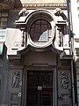 Street door. Apartment house of Imre Nagy and his wife (Dezső Hültl, 1911). - 85, Váci Street, Budapest District V, Hungary.JPG