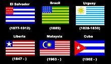 Bandiere ispirate a quella statunitense