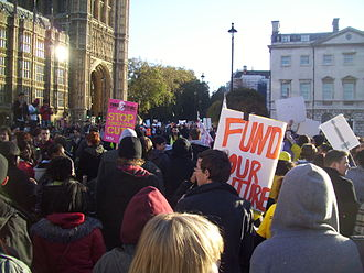 2010 United Kingdom student protests - Demonstration at the Palace of Westminster