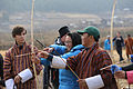 Students practice archery in Bhutan.jpg