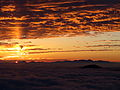 Sun pillar and Sunrise from Mount Norikura.JPG