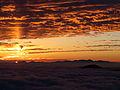 Sun pillar and Sunrise from Mount Norikura.JPG