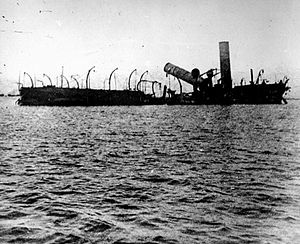 Spanish cruiser Reina Cristina - The wreck of Reina Cristina.