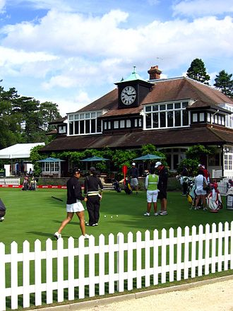 Women's British Open - The practice green at Sunningdale Golf Club in 2008.
