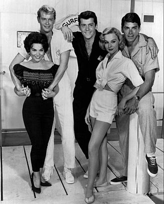Van Williams - Cast of Surfside 6: Margarita Sierra, Troy Donohue, Lee Patterson, Diane McBain and Van Williams