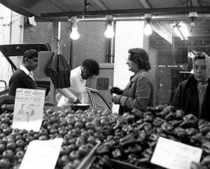 Surrey Street Market - Market stall, 1978