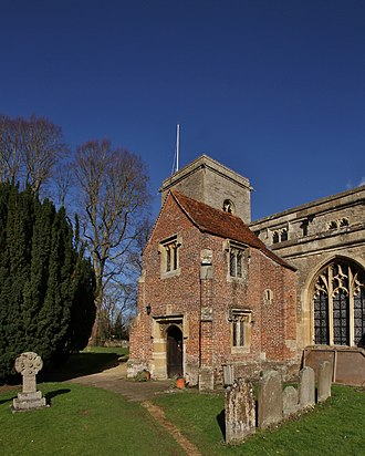 Sutton Courtenay - 15th-century south porch and parvise of All Saints' parish church
