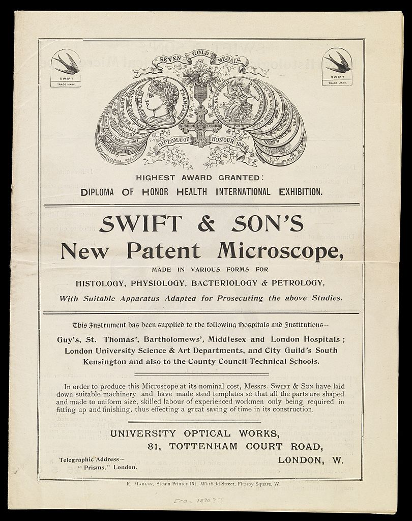 File:Swift & Son's new patent microscope  Front page of