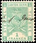 Switzerland Bern 1897 revenue 1Fr - 47A IX-97.jpg