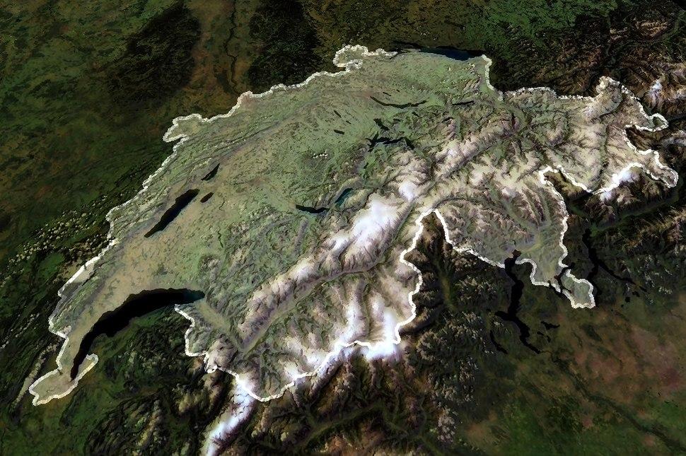 Switzerland satellite enhanced