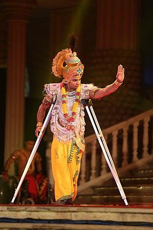 Syed Ashiq Pasha as Krishna in Bhagawad Gita.jpg