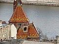 Szilágyi Dezső tér Reformed Church from Fisherman's Bastion, 2013 Budapest (291) (13228419924).jpg