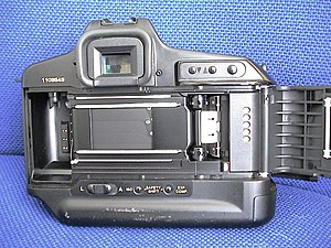Canon T90 - Rear, showing film path, shutter
