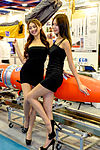 TADTE 2015 Day 3, Promotional Models in NCTU Advanced Rocket Research Center Booth 20150815a.jpg