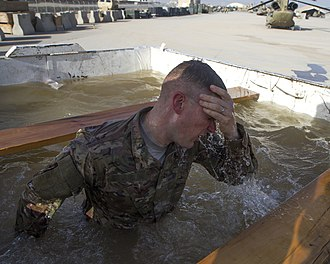Ice bath - Ice baths have been used as a part of military training.