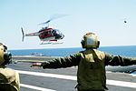 TH-57A of HT-8 landing on USS Lexington (AVT-16) 1985.JPEG