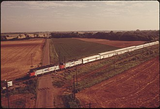 Lone Star (Amtrak train) - A southbound Lone Star between Guthrie and Norman, Oklahoma, in 1974.