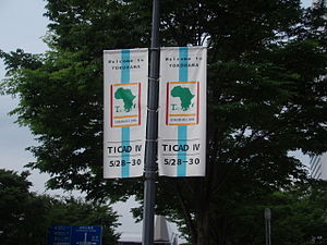 Tokyo International Conference on African Development - The crisp TICAD-IV banners become something of a bright token of welcome as Yokohama Meets Africa.