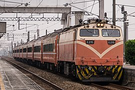 TRA E215 Chukuang at Houbi Station 20150308.jpg
