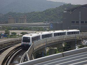 Wenhu Line - Image: TRTC Bombardier INNOVIA APM 256 2015 04 13