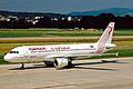 TS-IML A320-211 Tunis Air ZRH 19JUN03 (8544709622).jpg