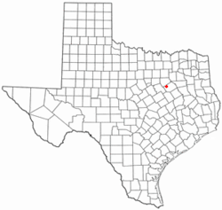 Location of Blooming Grove, Texas