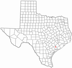 Location of Ganado, Texas