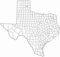 Location of Lefors, Texas