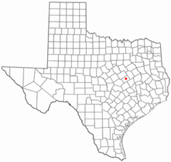 Location of Marlin, Texas