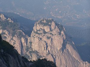 Taishan District, Tai'an - A peak at Tai Shan, Shandong, China