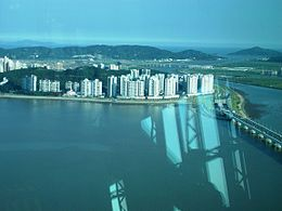 Taipa, Coloane, Lotus Bridge from Macau Tower.jpg
