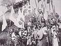 Taiwanese Aborigines who shake National flag of Japan.JPG