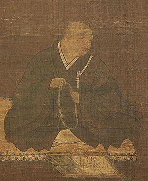 Hōnen - Portrait of Honen by Fujiwara Takanobu, 12th Century