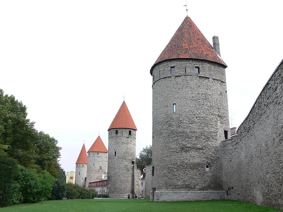 The walls of Tallinn, Estonia, a UNESCO World Heritage Site