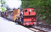 Talyllyn train awaiting departure at Abergynolwyn station. - geograph.org.uk - 764514.jpg