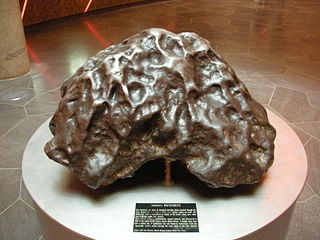 Iron meteorite meteorite composed of iron-nickel alloy called meteoric iron