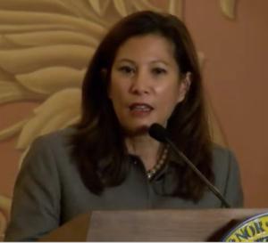 Tani Cantil-Sakauye - Cantil-Sakauye speaking at the swearing-in of Justice Goodwin Liu.